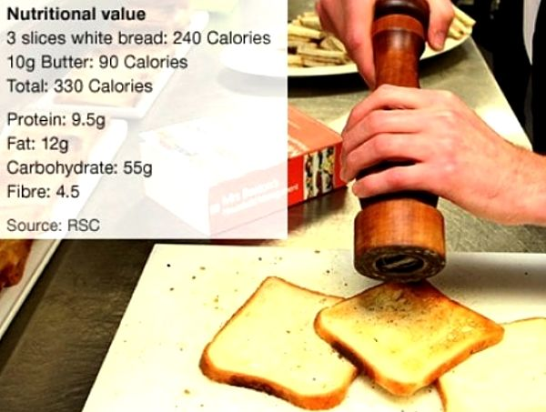 Calculate the calories in each meal by adding up the calories in the ingredients.