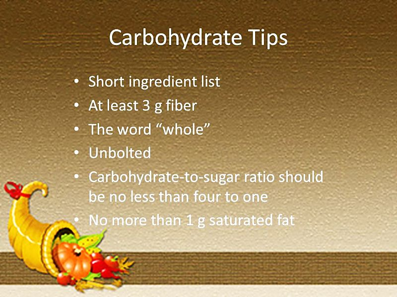 Tips for choosing healthy carbohydrates