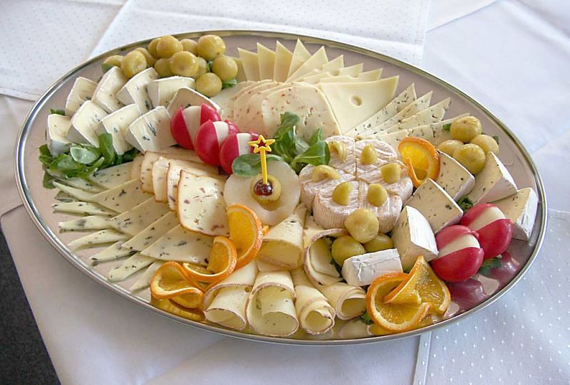 Presentation matters even for simple dishes such as cheese platters