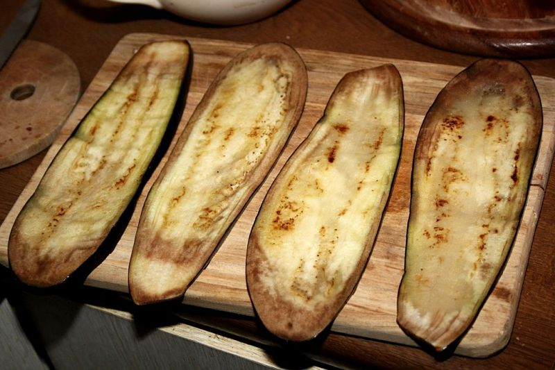 Grilled eggplants are the base of many fabulous dishes.