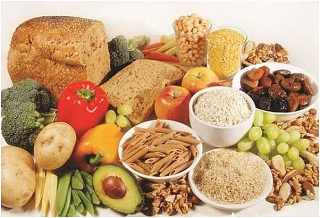 Foods rich in fiber - see detailed lists in this article