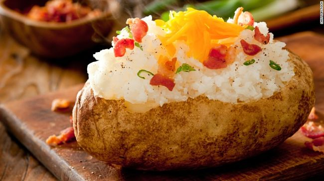Lovely stuffed baked potato - see the great recipes in this article