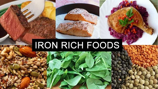 Key sources of Iron in Food - see a summary chart in this article