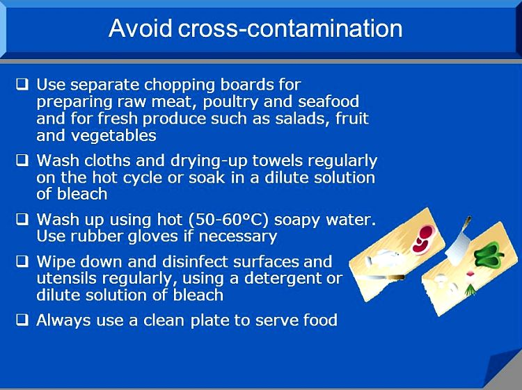 More tips to avoid cross contamination.