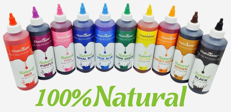 You can buy commercial food colorings that are natural rather than chemical - better still use natural colors directly