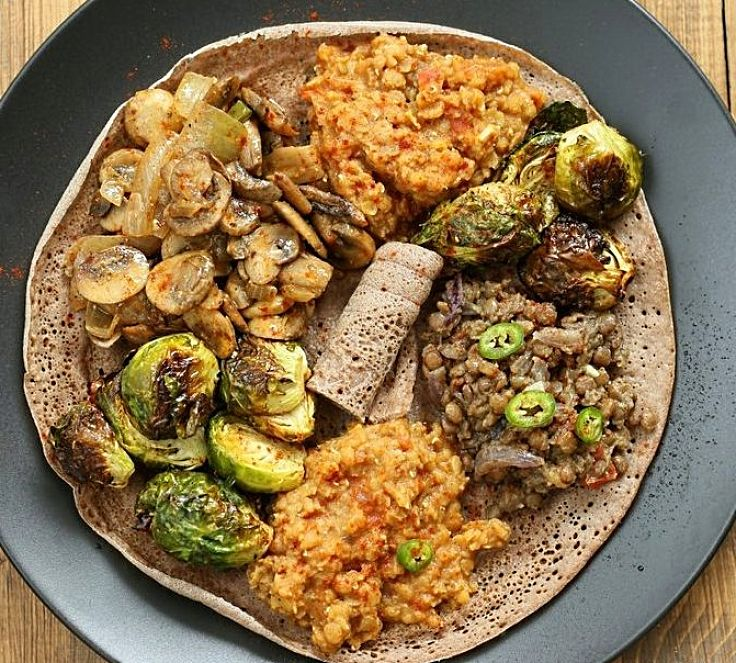 Teff pancake with vegetables - so healthy and good for you - see why here
