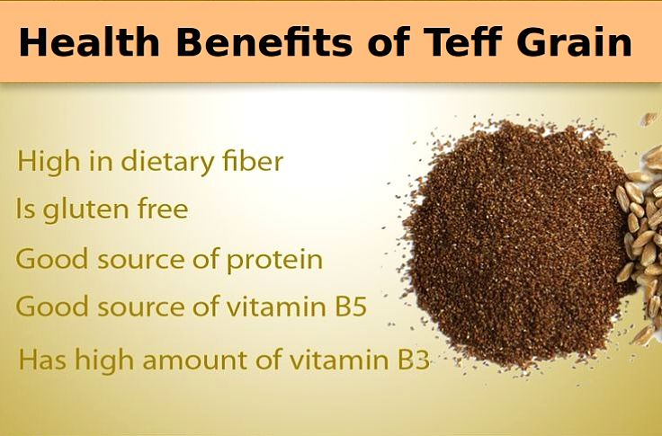 Health benefits of Teff grain - see nutrient chart in this article
