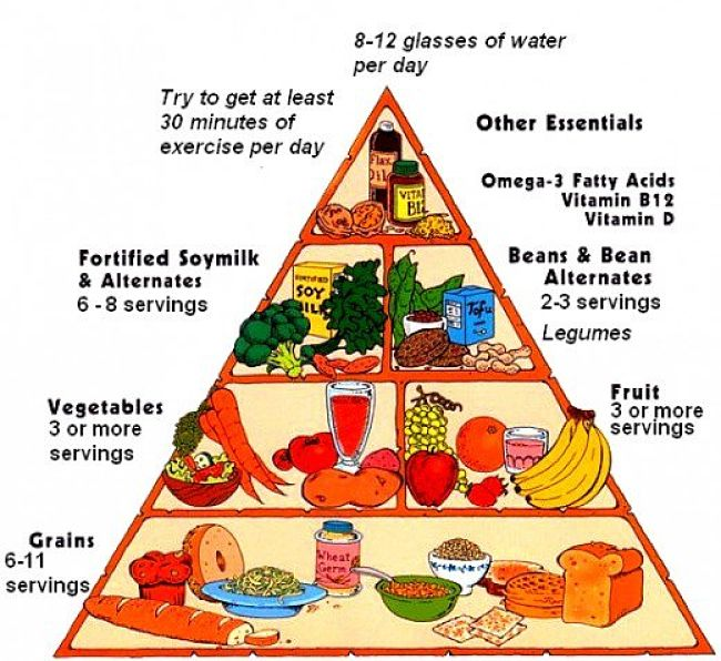 The Vegan Food Pyramid - Version 2