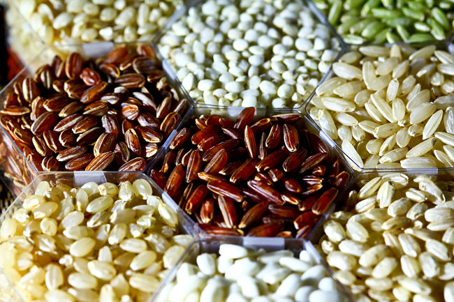 There are a wide range of whole grain rice varieties to choose from, if you can find them