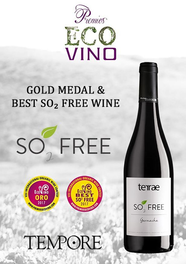 BODEGAS TEMPORE SO₂ FREE: ORGANIC WINE AWARDED AS THE BEST NON ADDED SULPHITES WINE