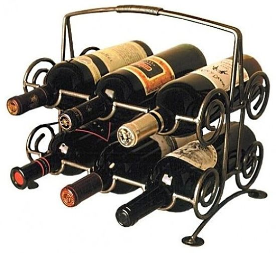 Small racks can be positioned in various corners of the cellar